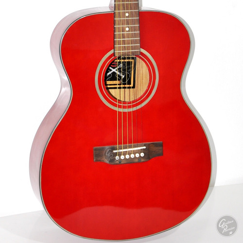 guitarra electroacustica jumbo colores + cable + pua + gtia