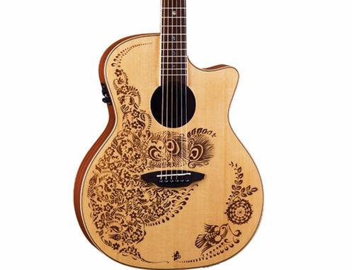guitarra electroacustica luna nylon henna nat hen02nyl