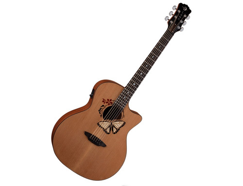 guitarra electroacustica  luna oracle butterfly nat