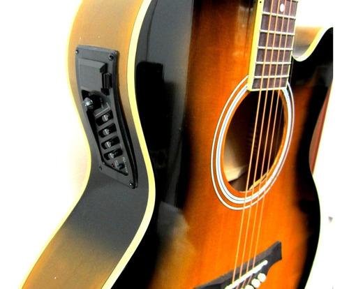 guitarra electroacustica  mcart a13ce yellow sunburst