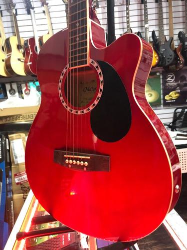 guitarra electroacustica mccartney slim c/ funda y tahaly