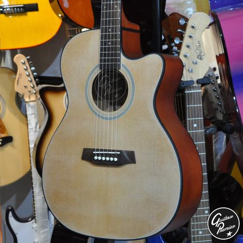 guitarra electroacustica media caja ecualizador afinador pua