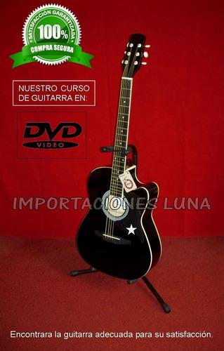 guitarra electroacustica modelo fuego con accesorios importa