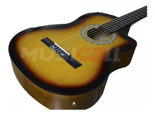 guitarra electroacustica natural nuevas  con forro+ cuerdas