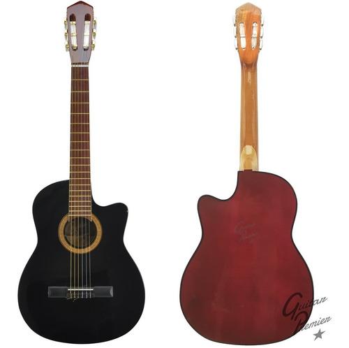 guitarra electroacustica nylon corte + amplificador + funda