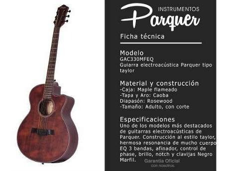 guitarra electroacústica parquer taylor caoba cuota