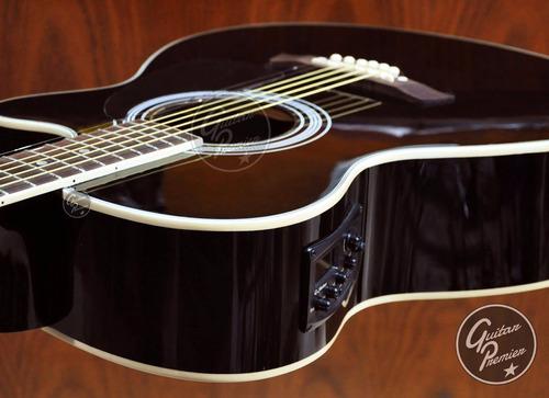 guitarra electroacustica shelter ecualizador funda afinador