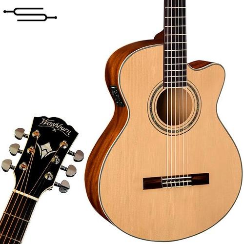 guitarra electroacustica washburn ea12 + envio