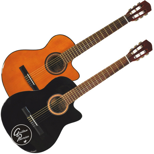 guitarra electrocriolla corte amplificador funda cable pua +