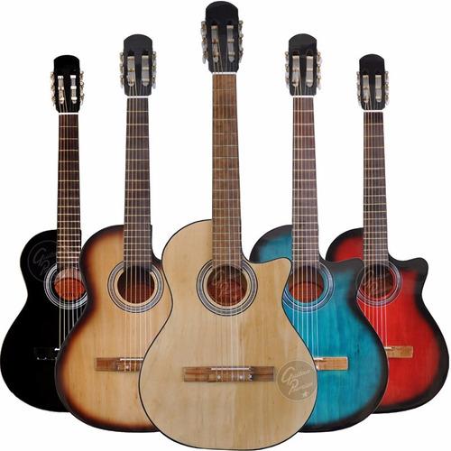 guitarra electrocriolla corte eq afinador ampli funda cable