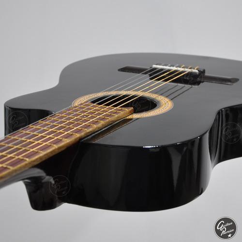 guitarra electrocriolla media caja + ampli + afinador funda