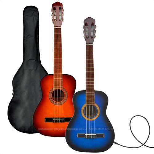 guitarra electrocriolla mediana colores funda pua garantia