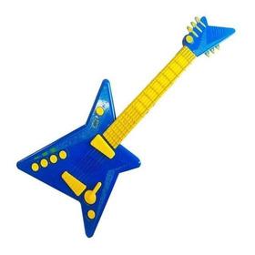 Guitarra Elétrica De Criança Infantil C/ Microfone Zp00219