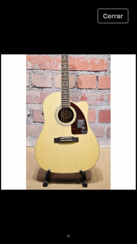 guitarra epiphone aj 220 se con estuche rígido