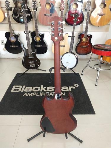 guitarra epiphone sg special ve vintage worn walnut marrom