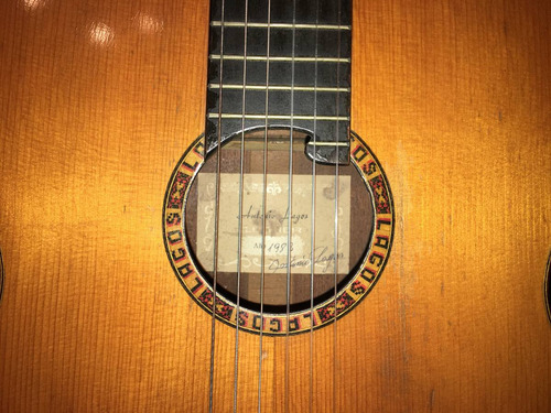 guitarra española de concierto antinio lagos año 1982