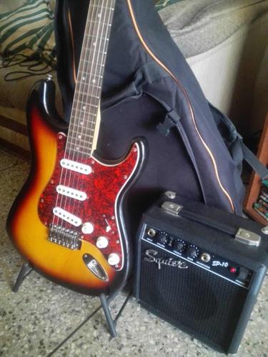 guitarra fender serie squier en perfecto estado
