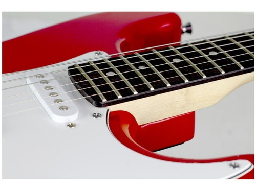 guitarra fender squier mainstream strato mm ht- 558- red