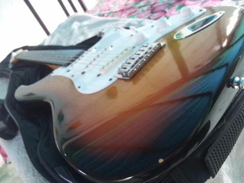 guitarra fender squier stratocaster modificada 100trumps
