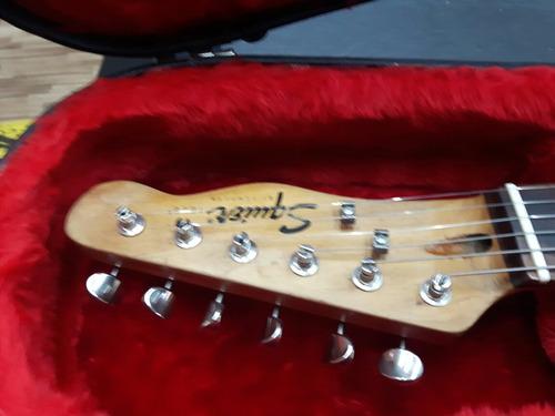 guitarra fender squier telecaster relic modificada top