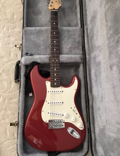 guitarra fender stratocaster roja mim