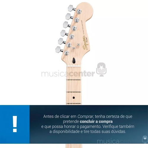 guitarra fender stratocaster squier deluxe maple pearl white