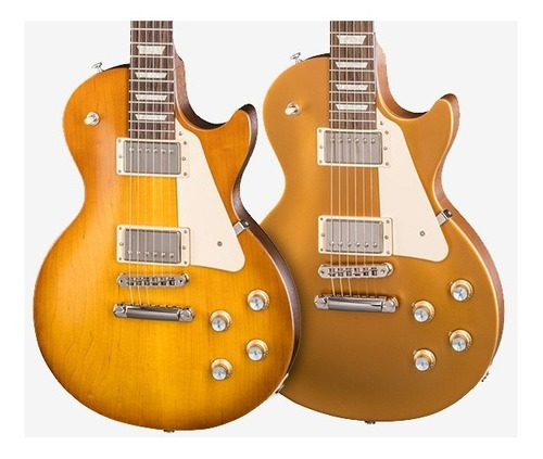 guitarra gibson les paul 2018 tribute faded satin gold top
