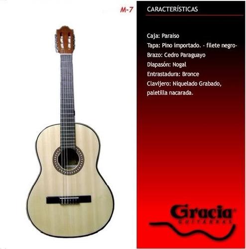 guitarra gracia m7 - criolla de estudio excelente calidad