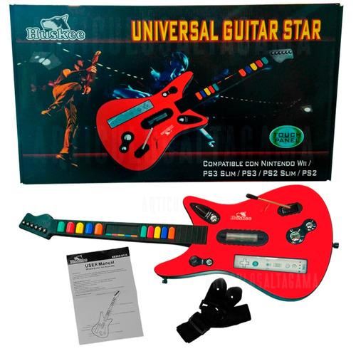 guitarra huskee inalámbrica para wii ps2 ps3 - nueva