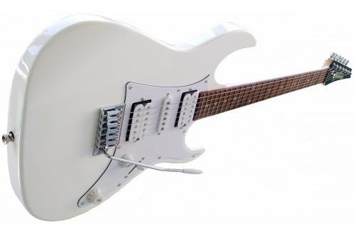 guitarra ibanez gio grx50 wh + capa + amplificador `+ aces