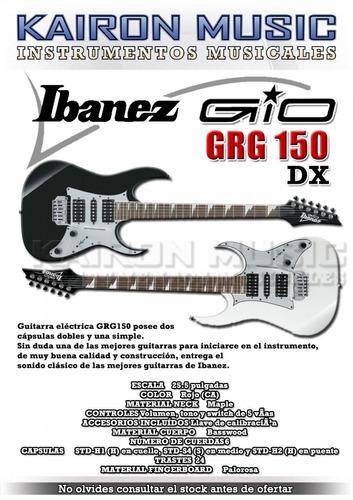 guitarra ibanez grg 150 dx bk y wp