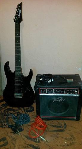 guitarra ibañez mas amplificador peavey