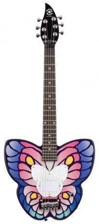 guitarra infantil borboleta daisy rock - somos loja física