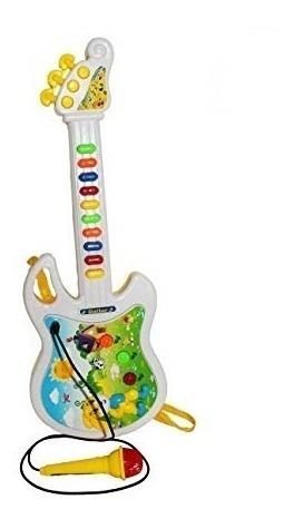 guitarra infantil com microfone karaoke interativa crianças