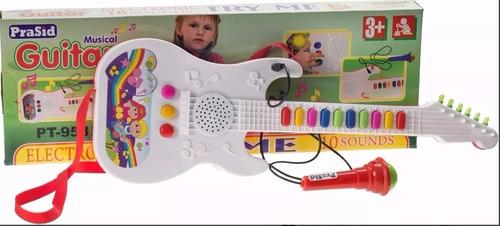 guitarra infantil musical com microfone - xin anda