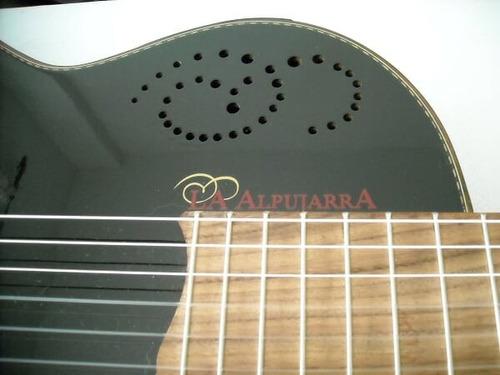 guitarra la alpujarra 300 kec negra con funda acolchada