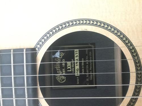 guitarra martin lxm acustica con hardcase.