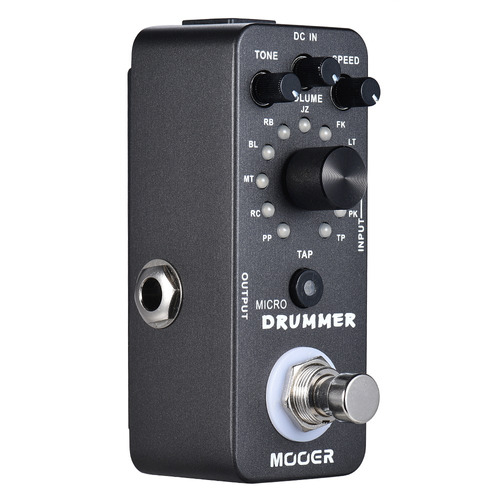 guitarra micro drummer digital drum machine pedal de efectom