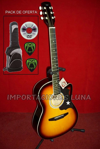 guitarra modelo gangster americano color negro con relieve