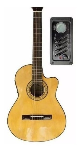 guitarra  nylon gracia modelo m6eq c/ funda