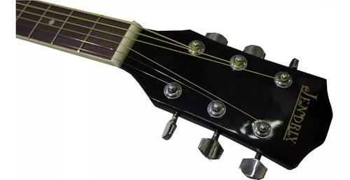 guitarra profesional electroacustica jendrix negra incluye envio gratis