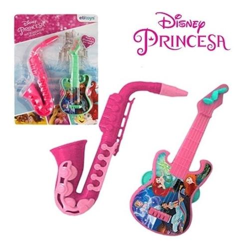 guitarra saxofone princesas kit bandinha instrumento musical