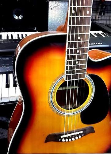 guitarra shelter electro acustica con afinador, ecualizador.