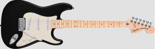 guitarra squier stratocaster standard black metallic mn