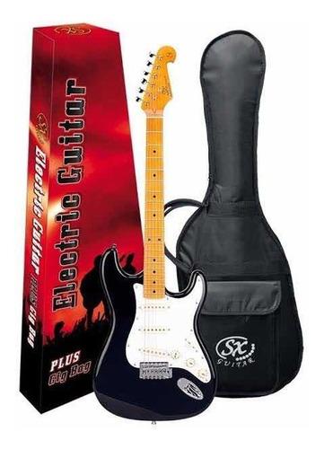 guitarra strato sx sst57 bk preta com bag sst57
