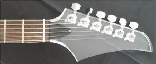 guitarra stratocaster art pro acrílica profissional - saldo