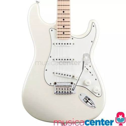 guitarra stratocaster fender squier deluxe maple pearl white