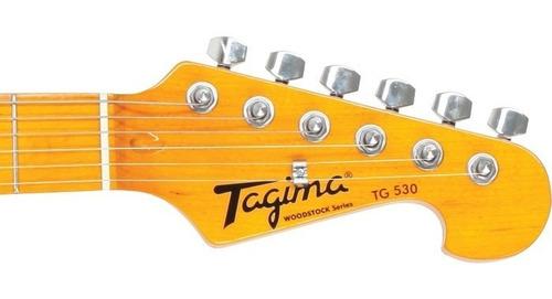 guitarra stratocaster tagima tg530 electrica black - oddity