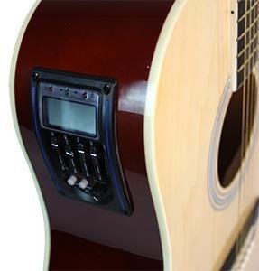 guitarra texana electroacústica rmc con corte natural