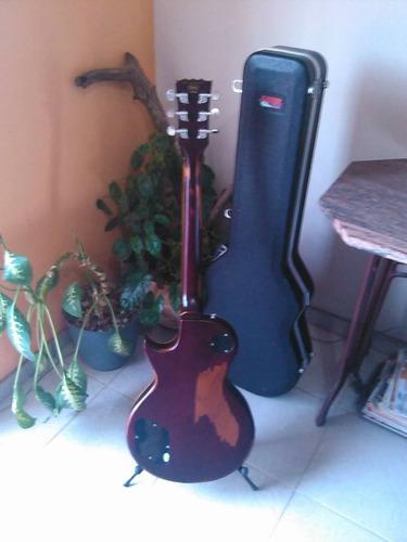 guitarra vintage v100 lemon drop + hardcase gator